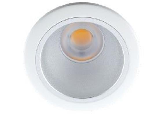 Einbaustrahler starr LED 10W 45° ww weiss 24V/DC / 3000°K / ET=130 D=118 As=100/ IP44