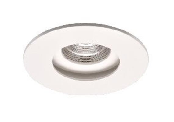 Einbaustrahler starr LED 9.3W 2700K weiss matt 32° 500mA 835lm CRI80 D=100mm H=95mm IP20