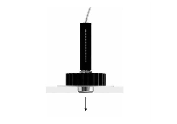 Einbaustraler Nulla 25 LED 8W DALI schwarz  DC 700mA 3000K D=25mm H=152 DA= 35 IP20