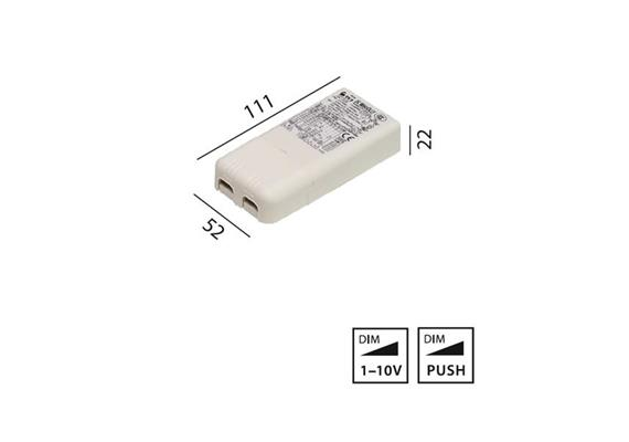 Elektr. Konverter 20W 1-10V 220-240V L=111 B=52 H=22