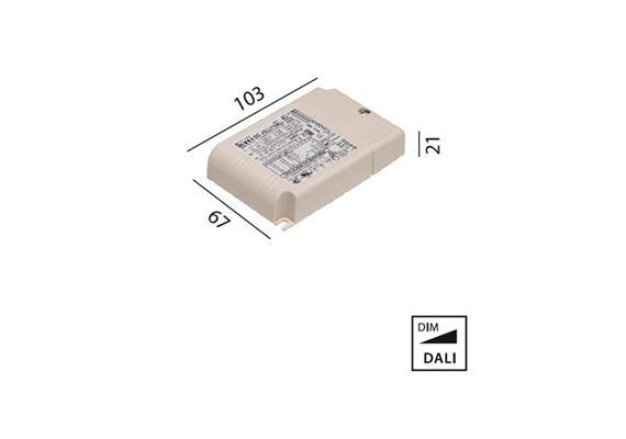 Elektr. Konverter 32W DALI  220-240V L=103 B=67 H=21 IP20