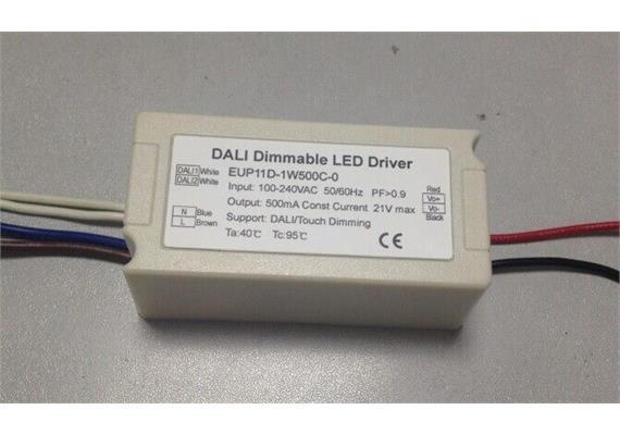 Elektr. Konverter DC 10.5W 500mA DALI weiss  220-240V / 3W-10.5W / L=72 B=35 H=29 IP20