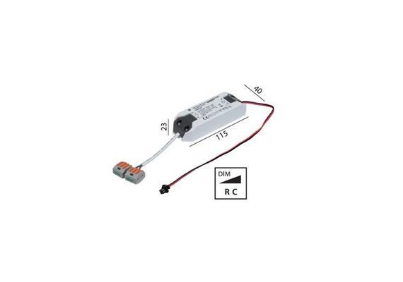 Elektr. Konverter DU LED DC 9W/350mA dimmbar  220-240V/ 350mA / L=115 B=40 H=22 / IP20