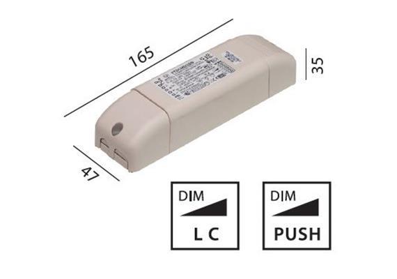 Elektr. Konverter LED 15-32W universal dimmbar  110-240V/ 10-24V KS 350mA / 500mA/ 700mA