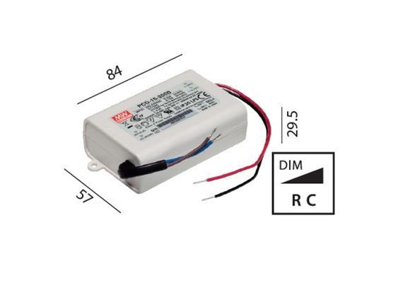 Elektr. Konverter LED DC 11-16W/700mA dimmbar 220-240V/ 16-24V 700mA / 2-5 Led