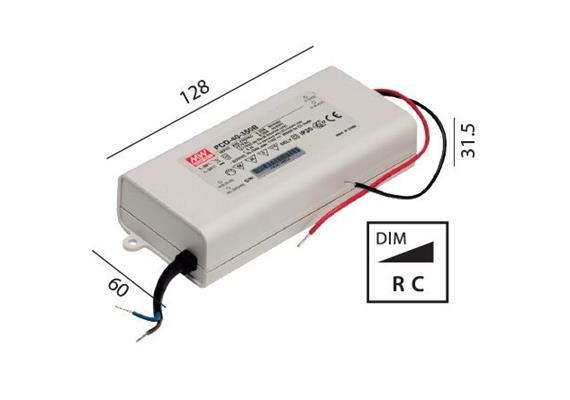 Elektr. Konverter LED DC 22-40W/500mA dimmbar 185-240V/ 500mA /