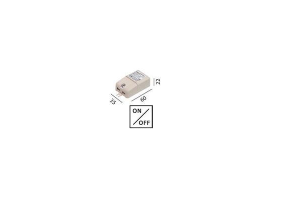 Elektr. Konverter LED DC 350mA 1-8W  100-240V L=60 B=35 H=22 IP20