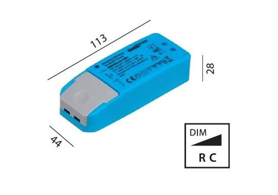 Elektr. Konverter LED DC 5-18W/500mA dimmbar 220-240V/ 9-36V 500mA