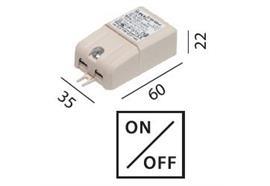 Elektr. Konverter LED DC 6W/500mA 100-240V / L=60 B=35 H=22 IP20