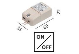 Elektr. Konverter LED DC 8W/350mA 100-240V / L=60 B=35 H=22 IP20