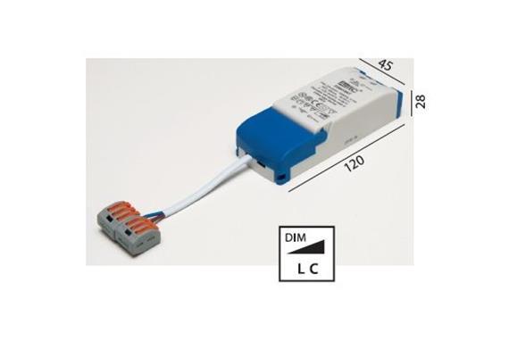 Elektr. Konverter LED DC 9-18W/ dimmbar  220-240V/ 15-52V 350mA L=113 B=44 H=28 IP20