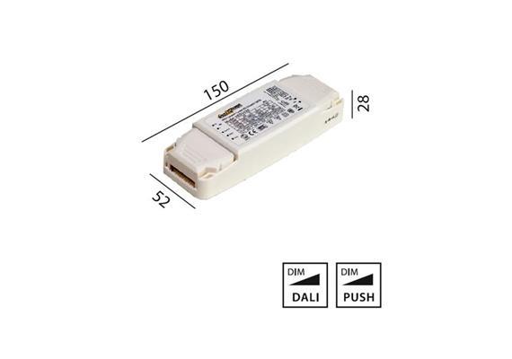 Elektr. Multi Konverter DC HY 20W DALI 220-240V L=150 B=52 H=28 IP20