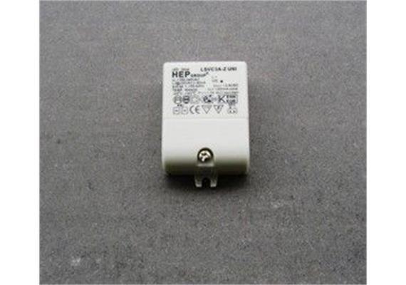 Elektronischer LED Konverter 1-3W/ 350mA DC weiss 100-230V/ 1-3W / L=55 B=40H=20
