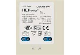Elektronischer LED Konverter 1-4W/ 700mA DC weiss 100-230V/ L 58 x B 39 x H 20mm