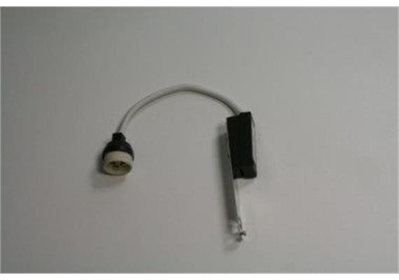 Fassung GU bzw. GZ10 für HG mit Klemmbügel und 2-poliger Lüsterklemmme