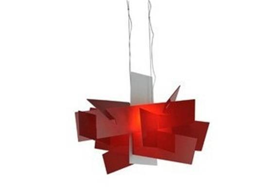 Hängeleuchte Big Bang rot 240V/R7s 1x160W