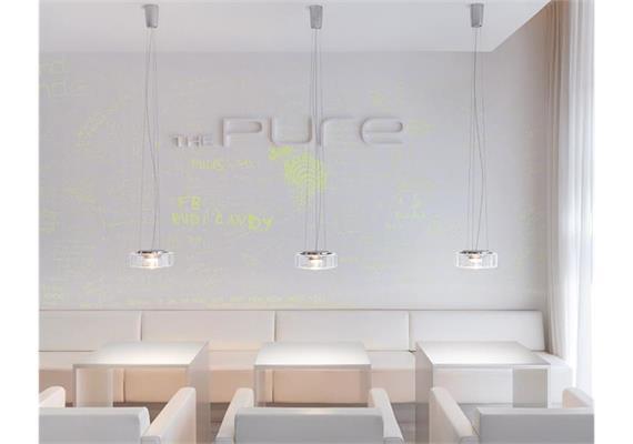 Hängeleuchte Curling rope M LED 27W Glas klar 240V 2700K 2670lm 90CRI