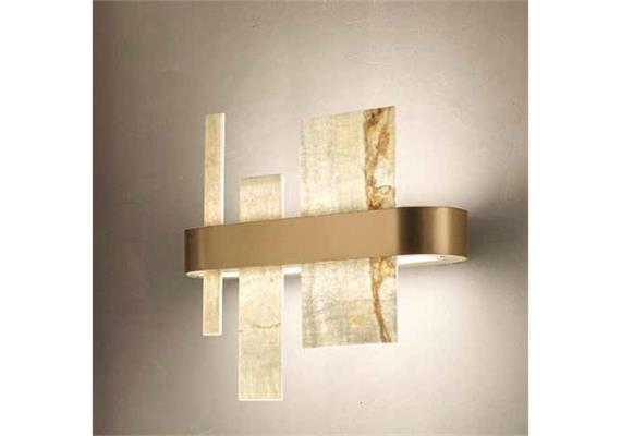 Hängeleuchte HONICÉ A65 matt gold  230V 12W/ L=65/ H=33 B=8cm