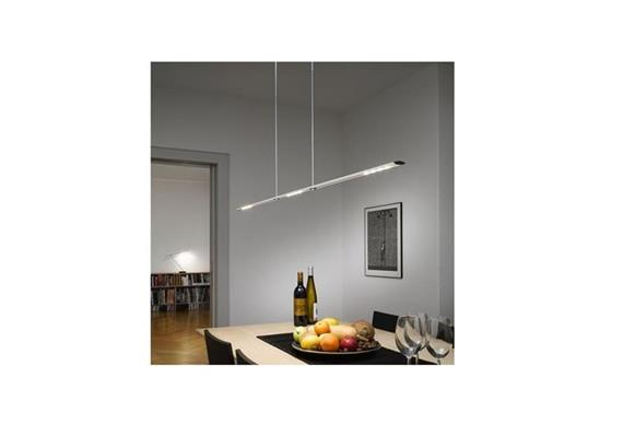 Hängeleuchte LET D 100 standard 3000°K alu H=80-140cm 22W 2x4 LED