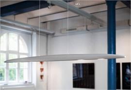 Hängeleuchte Sculpture Basic White XL carbon-silber /Sensor 20 Power LED 2700K 24W 1800lm