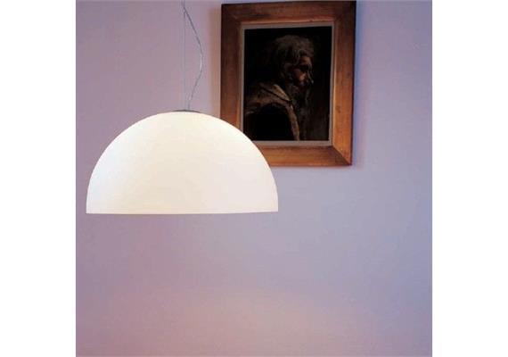 Hängeleuchte SONORA Glas Opal  240V/1x max 100W E27 D= 38 cm H= 19 cm