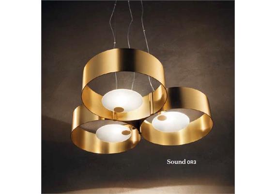 Hängeleuchte SOUND OR3 3x40W HG gold gebürstet 230V G9 3x40W/ L=560 B=56 H=11/ IP20