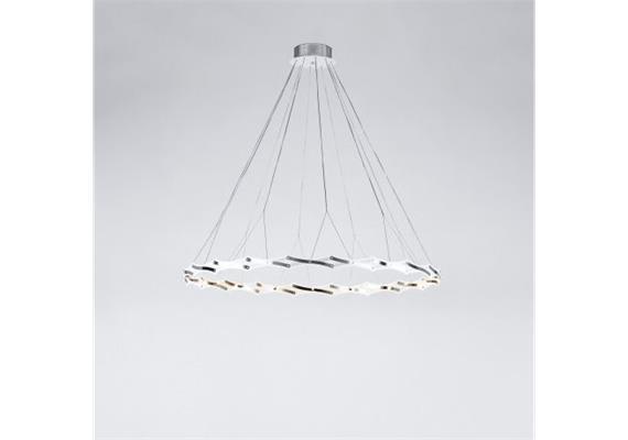 Hängeleuchte Zoom1 LED 32W 27K Edelstahl geb.  240V Trafo D=24 D=20-130cm H=90-220cm