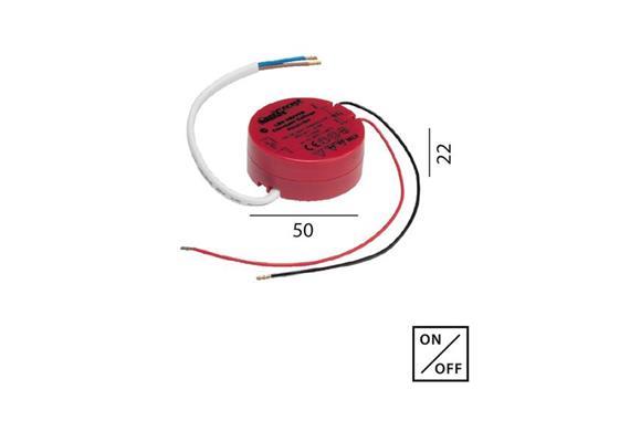 Konverter 24V/DC 9W für LED KV  230V/24V D=50 H=22