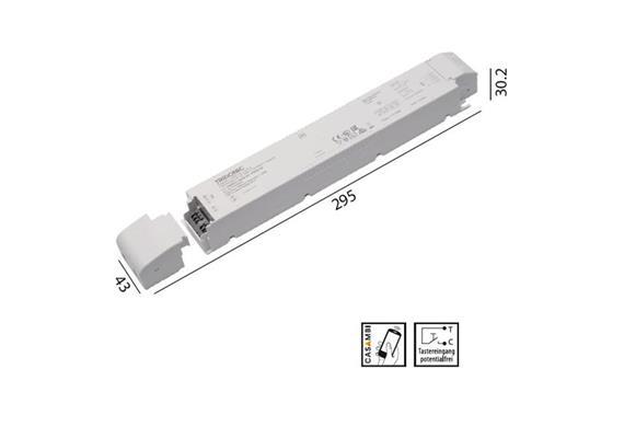 Konverter LCA 24V 100W Casambi-switch-Dim weiss  230-240V/ L=295 x 43 x 30.2mm / IP20