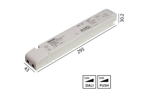 Konverter LCA 24V 100W Dali -switch-Dim weiss  230-240V/ L=295 x 43 x 30.2mm / IP20