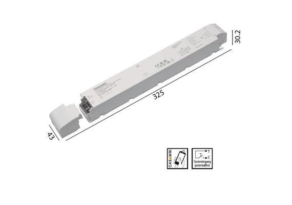 Konverter LCA 24V 150W Casambi -switch-Dim weiss  240V/ DC L=325 B=43 H=30.2mm IP20