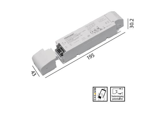 Konverter LCA 24V 35W Casambi-switch Dim weiss  230-240V/ L=195 x 43 x 30.2mm / IP20