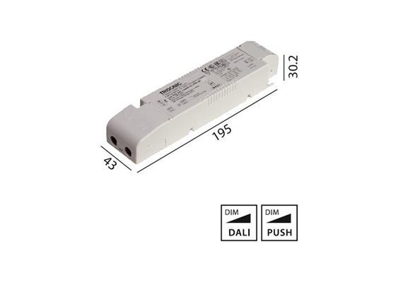 Konverter LCA 24V 35W Dali -switch-Dim weiss  230-240V/ L=195 x 43 x 30.2mm / IP20
