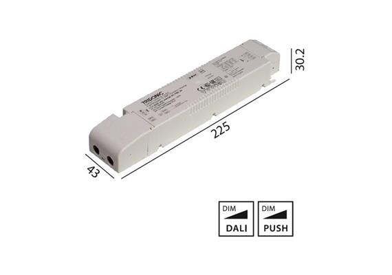 Konverter LCA 24V 60W Dali -switch-Dim weiss  230-240V/ L=225 x 43 x 30.2mm / IP20