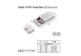 Konverter Multi 500mA DALI-Push dim 18W  230-240V/ L=120 B=51 H=30mm / IP20