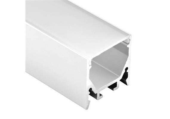 Kunststoff Diffussor für Led Profil 81066 opal  L=1000mm