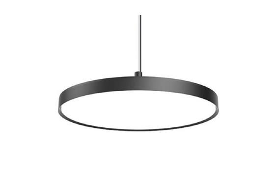 Pendelleuchte LP Slim Round schwarz 54W LED D=680mm/H=55mm 3000K Acryldiffusor