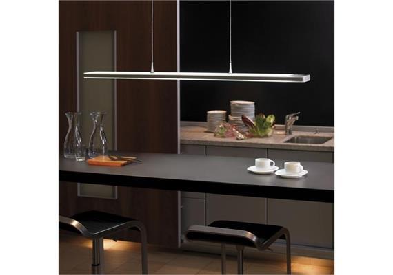 Pendelleuchte Touch LED max 72W 2700°K-5000°K L=125.6cm B=12.6cm H=2.7cm aluminium