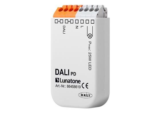 Phasenabschnitt Dimmer mit DALI-Eingang 25W  230V/ 25W LED L=58.5 B=32. H=15