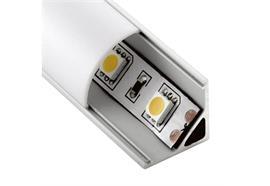 PMMA Diffusor ANGLE R opal matt abgerundet für Aufbaueckprofil 81005 L=1000mm