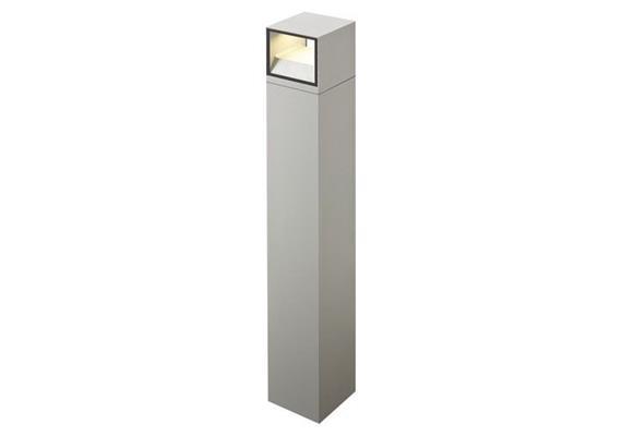 Pollerleuchte LED 1x14W 2700°K silbergrau 230V / H=400 B=102 T=102 CRI80 IP54