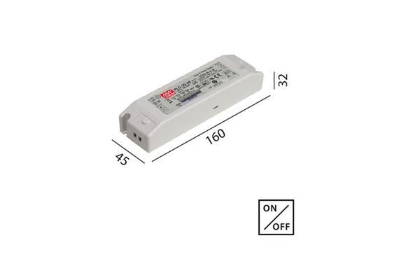 Schaltnetzteil 12V DC 30W weiss  230V/12V DC / L=160 B=46 H=30