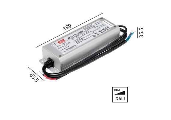 Schaltnetzteil 24V DC 100W DALI IP67  230V/24V DC / L=199 B=63.5 H=35.5mm