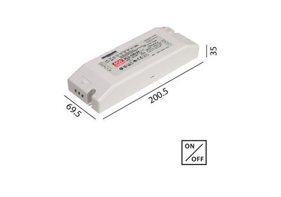 Schaltnetzteil 24V DC 100W weiss 230V/24V DC / L=200.5 B=69.5 H=35