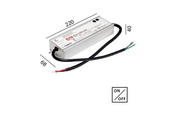 Schaltnetzteil 24V DC 120W IP67 weiss  230V/24V DC / L=220 B=68 H=40