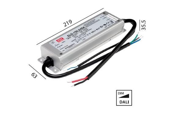 Schaltnetzteil 24V DC 150W DALI IP67  230V/24V DC / L=219 B=63 H=35.5