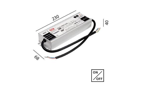 Schaltnetzteil 24V DC 150W IP67 weiss  230V/24V DC / L=230 B=68 H=40