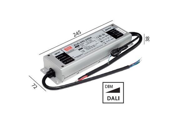 Schaltnetzteil 24V DC 240W DALI IP67  230V/24V DC / L=244 B=71 H=37.5
