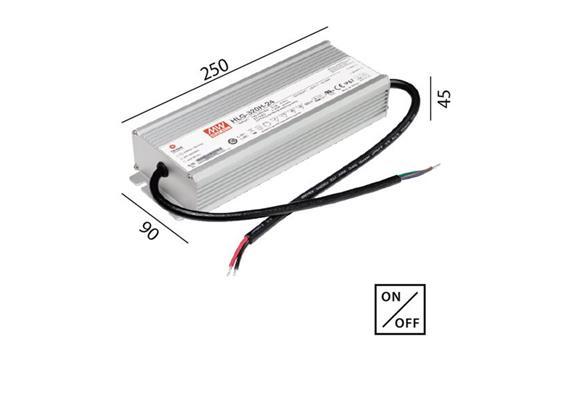 Schaltnetzteil 24V DC 320W IP67 kabel  230V/24V DC / L=250 B=90 H=45