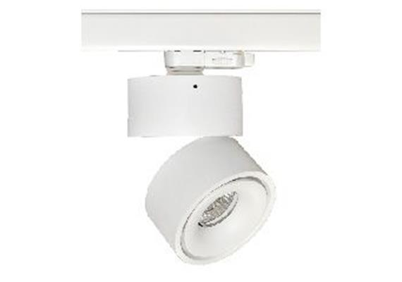 Schienenstrahler 3Ph.Turn out LED 1x9.3W 3000°K ws-sz 230V/500mA DC / D=100 H=103 IP20